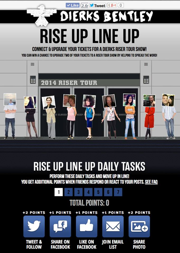 Dierks Bentley Rise Up Line Up - CountryMusicRocks.net