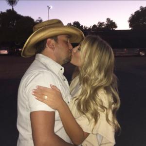 Jason Aldean Brittany Kerr Engaged Instagram - CountryMusicRocks.net