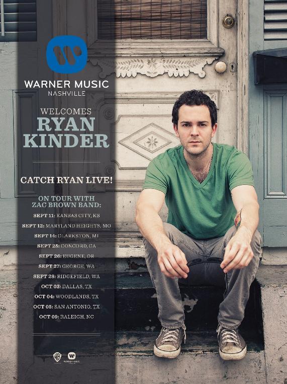 Ryan Kinder Zac Brown Tour - CountryMusicRocks.net