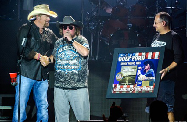 Pictured L-R: Toby Keith, Colt Ford, Tony Morreale Photo Credit: Andrew Wendowski