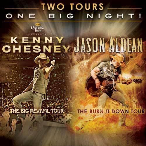 Kenny Chesney Jason Aldean Stadium Tour - CountryMusicRocks.net