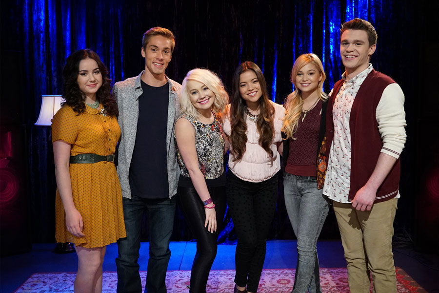 (L-R) Sarah Gilman, Austin North, RaeLynn, Piper Curda, Olivia Holt, Peyton Clark Photo Credit: ©(Disney Channel/Eric McCandless)