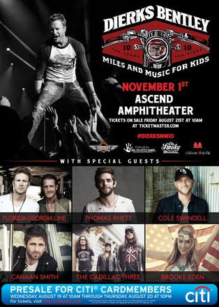 Dierks Bently Miles and Music for Kids 2015 - CountryMusicRocks.net