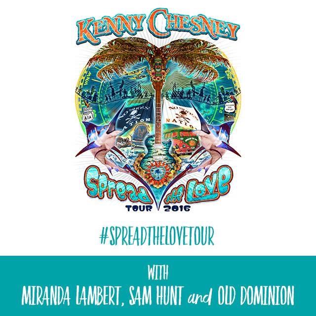 Kenny Chesney 2016 Spread The Love Tour - CountryMusicRocks.net