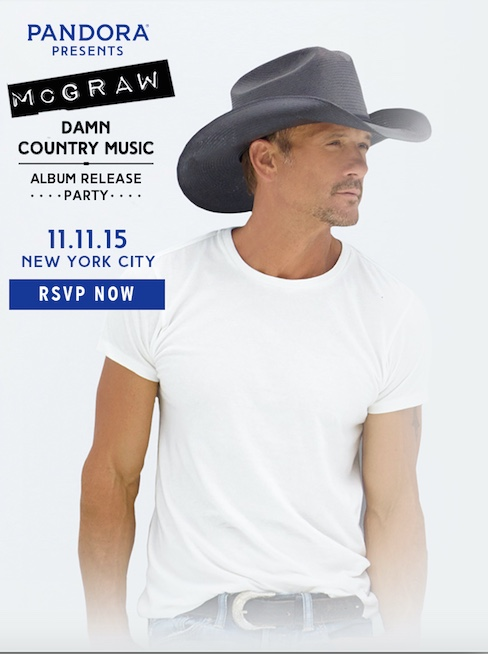 Pandora Presents Tim McGraw - CountryMusicRocks.net