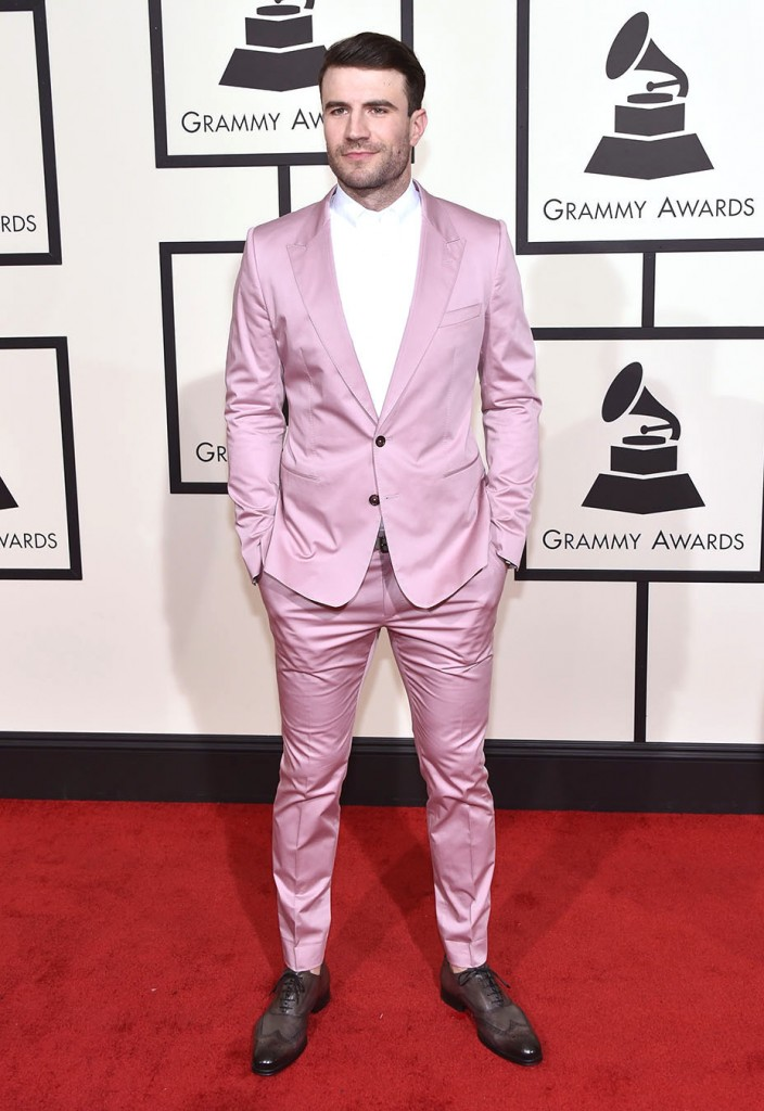LOS ANGELES, CA - FEBRUARY 15:  Singer Sam Hunt attends The 58th GRAMMY Awards at Staples Center on February 15, 2016 in Los Angeles, California.  (Photo by John Shearer/WireImage)