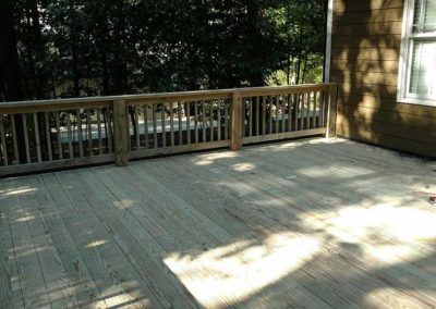 Close-up view of deck