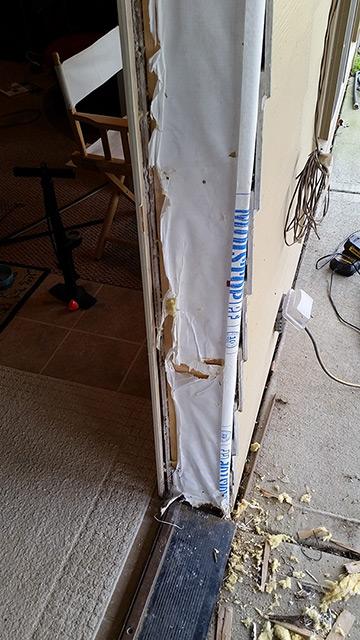 Damaged door jam removal