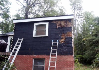 Home Exterior repairs needed to the sheathing and siding