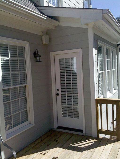 Back Door Wood Rot Repair