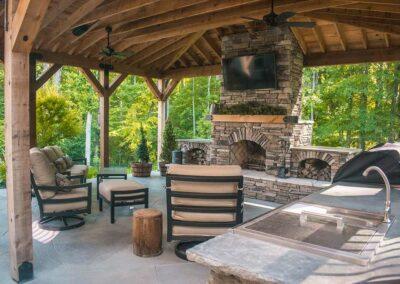 photo of outdoor kitchen