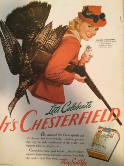 1941 Chesterfield Ad
