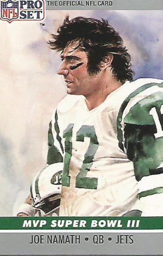 1990 Pro Set Super Bowl MVP's #003 Joe Namath
