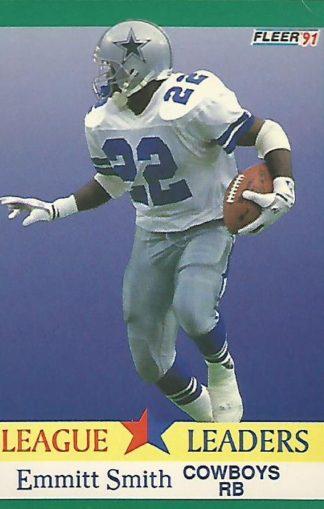 1991 Fleer #418 Emmitt Smith League Leader