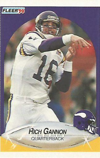 1990 Fleer #099 Rich Gannon Rookie
