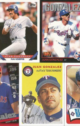 Juan Gonzalez Cards