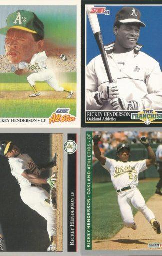 Rickey Henderson Cards (3)
