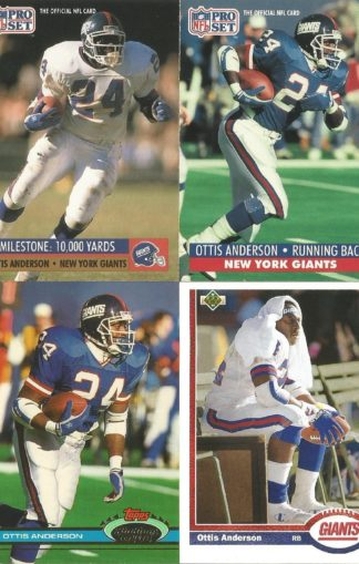 Ottis Anderson Cards Lot 3