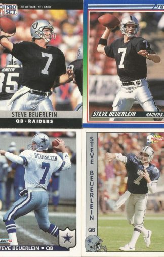 Steve Beuerlein Cards Lot 1