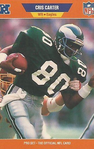 1989 Pro Set #314 Cris Carter Rookie
