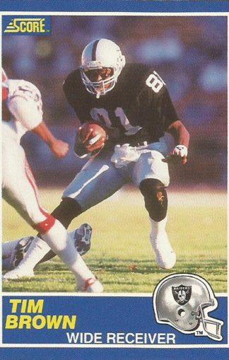 1989 Score #086 Tim Brown Rookie