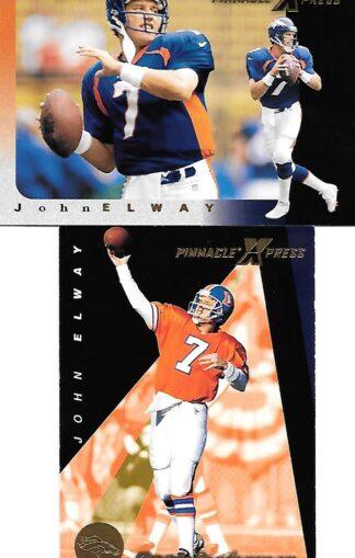 1997 Pinnacle Express #004 & #145 John Elway