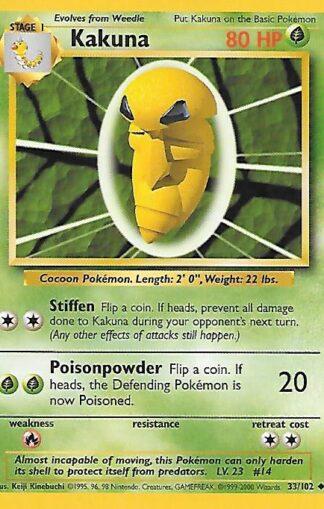 1999 Pokemon Base Unlimited #033 Kakuna