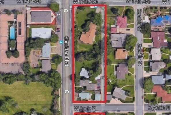 Area proposed for rezone by the neighbors at 1602-1680 N Sheridan