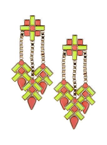neon drop earrings
