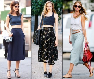 Crop Tops and midi skirts