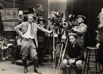 DeMille on set