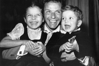 Frank and his two oldest kids