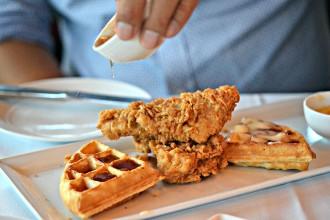 Crossroads Brunch Chicken Waffles
