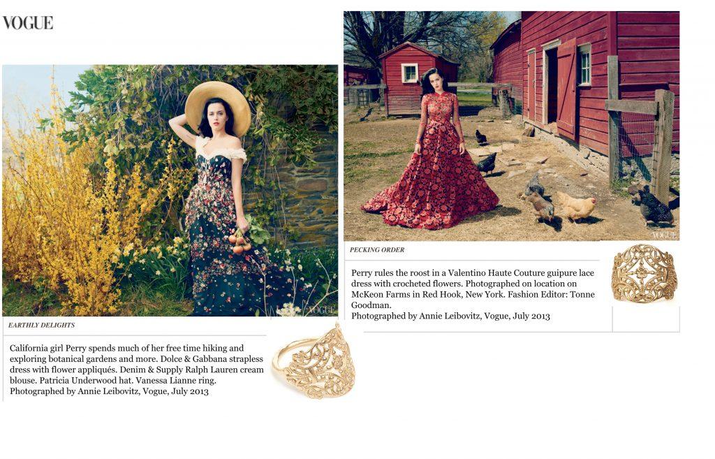 Vogue cover spread copy