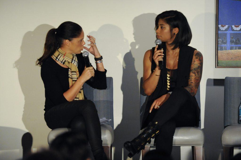 Soledad OBrien and Massy Arias during PowHERful LA 2016