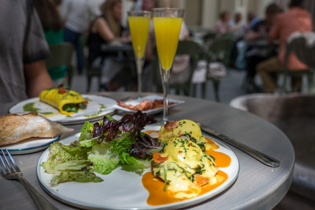 Spring Escargot Omelette and Lobster Benedict