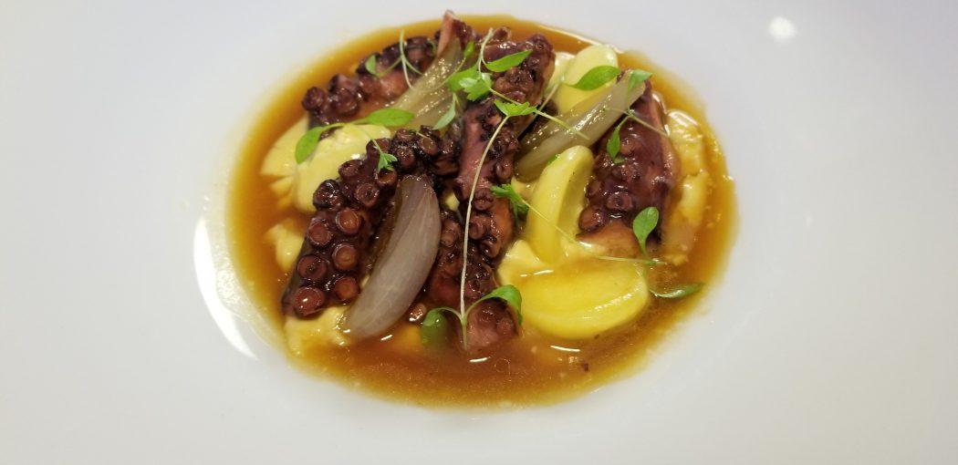 Dubrovnik Restaurant 360 Octopus lime ravioli dark fish souup chickpeas