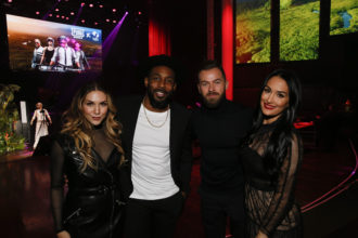 Allison Holker Boss Stephen tWitch Boss Artem Chigvintsev and Nikki Bella Ryan Miller