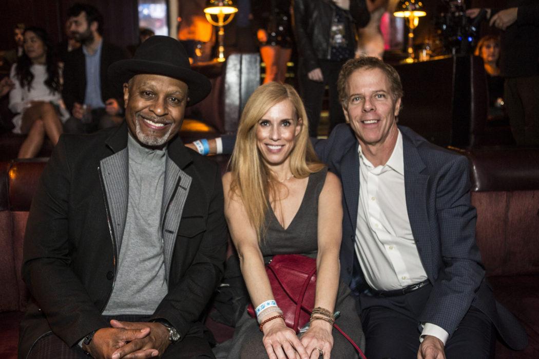 Greys Anatomy stars James Pickens Jr. and Gregg Germann with Martha Champlin Harmony Gerber