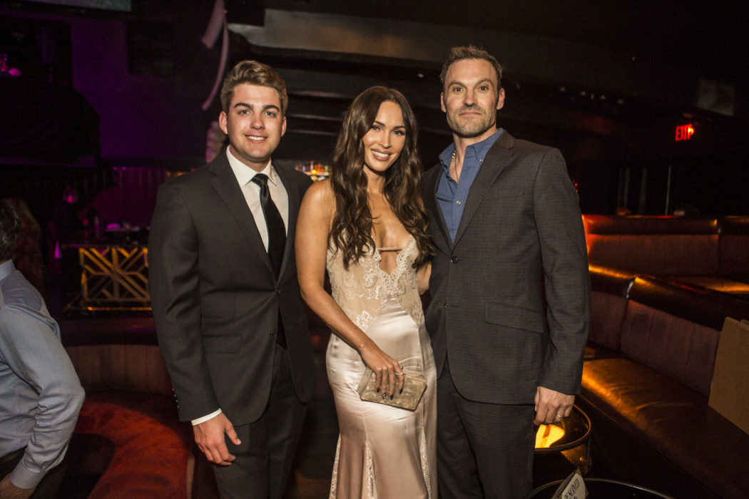 NASCAR driver PUBG MOBILE influencer Noah Gragson with Megan Fox and Brian Austin Green Harmony Gerber