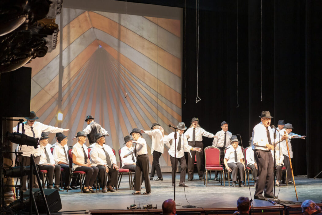 The Young@Heart Chorus performs live on Saturday September 22 2019 at the Colonial Theatre in Pittsfield Massachusetts Julian Parker Burns