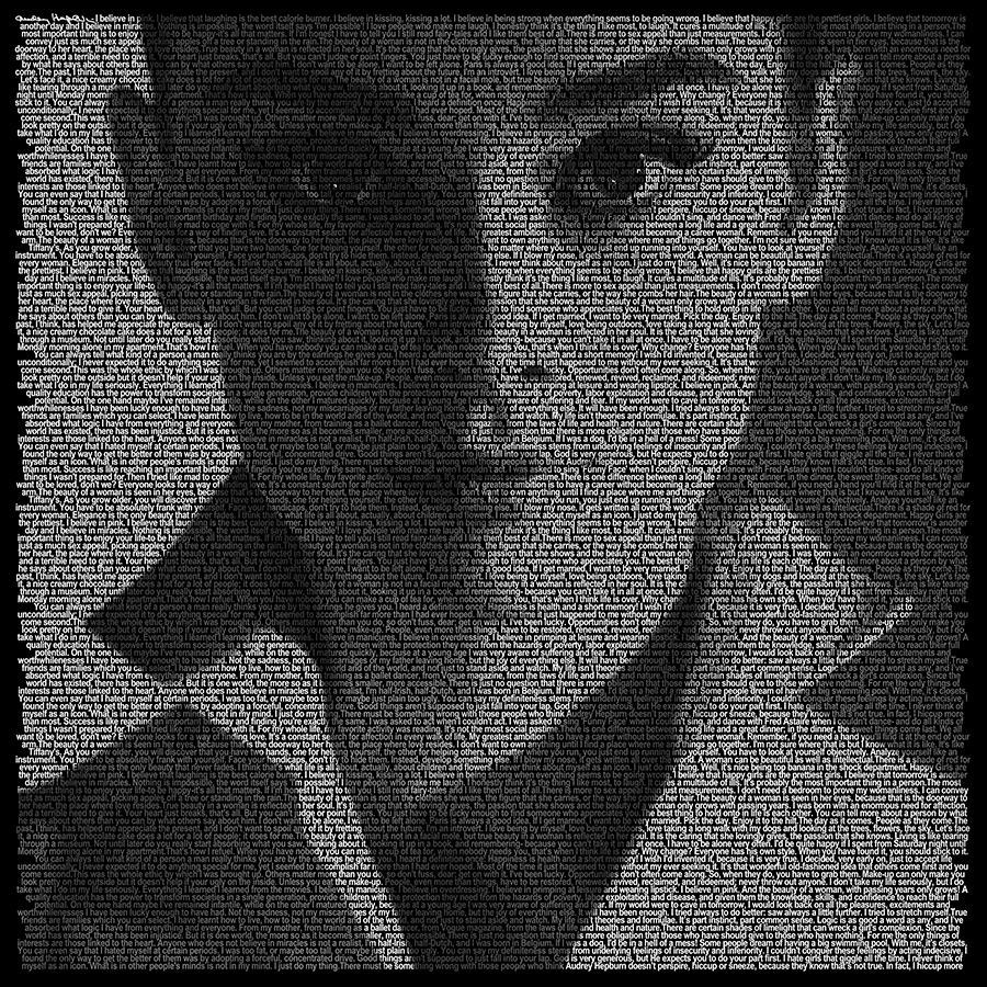 Art and Words, Audrey Hepburn by Eric Thaller