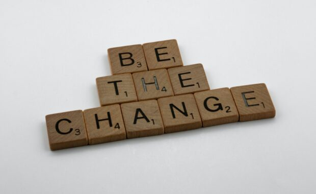 Scrabble Tiles: Be the Change