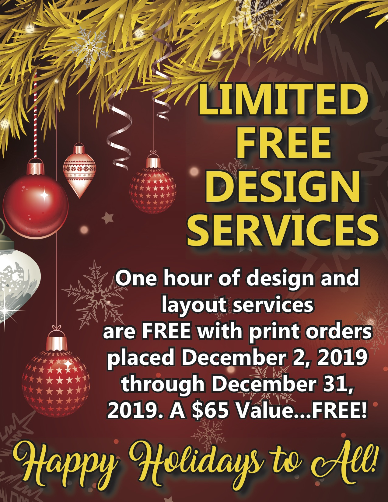 Limited Free Design Services