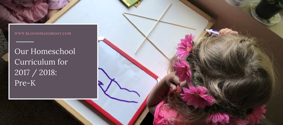 Our Homeschool Curriculum for 2017 - 2018: Pre-K