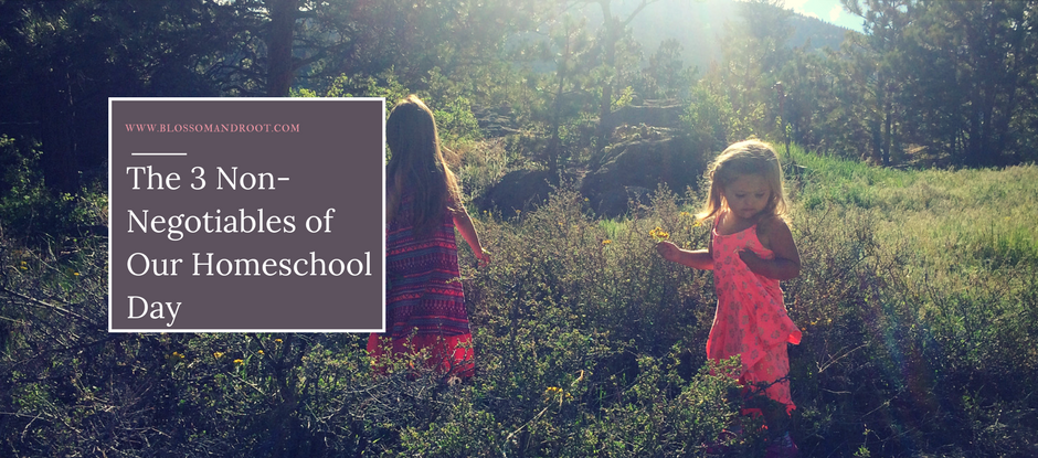 The Three Non-Negotiables of Our Homeschool Day: Go outside, read, and wonder.