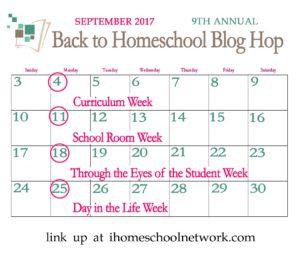 Back to School Blog Hop Sept 2017 ihomeschool network