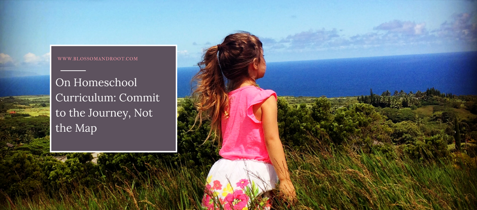 on homeschool curriculum: commit to the journey, not the map