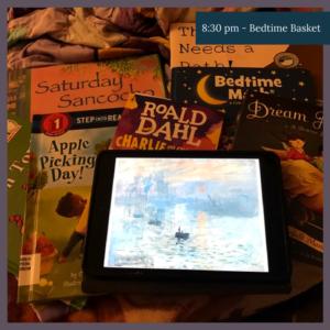 bedtime basket
