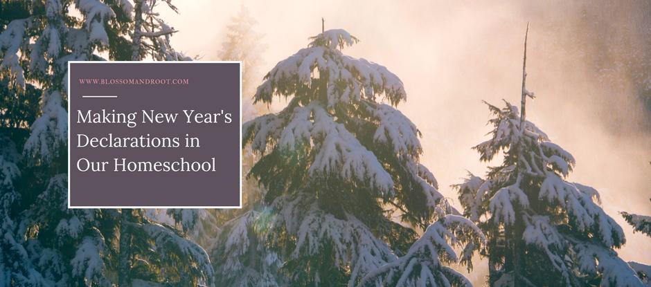 new years declarations homeschool